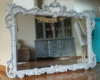 SOLD TO PENNY - Gorgeous Baroque Hand-Painted Mirror- Large Mirror - Romantic