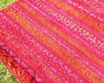 Vintage Mid Century Wool Rug