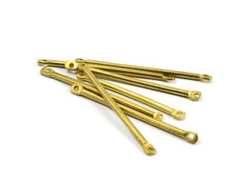 15 Pcs. Raw Brass 1.8x40 mm Stick 2 Hole Findings