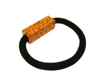 Fleckled Speckled Block Bracelet - Tangerine Orange