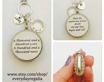 Thousand Kisses two sided pendant charm necklace