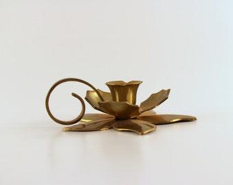 Brass Flower Candle Holder