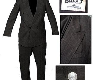 Vintage Double Breasted Suit / Gangster Suit / Rockabilly Suit / Zoot Suit