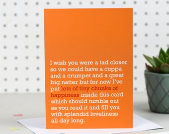 Lots Of Tiny Chunks Of Happiness - Greetings Card