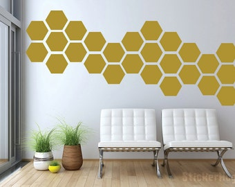 Honeycomb Pattern Mini Wall Decals Graphic Vinyl Sticker Bedroom Wall Home Decor