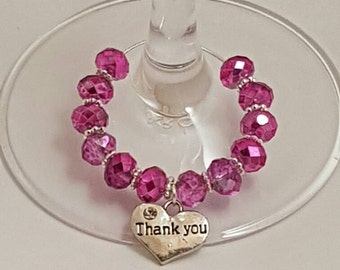 Wine Glass Charms, Thank You Gifts, Wedding Favours, Charms, Thank You Charms, Secret Santa Gifts, Glass Charms, Gift Ideas, Teacher Gifts