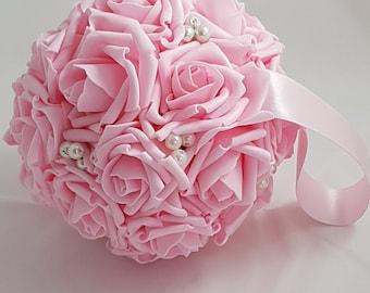 "6"" Wedding Pomanders, Wedding Flower Balls, Flower Girl Kissing Ball,  Bouquet Alternative"