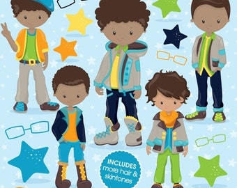 80% OFF SALE Fashion boys clipart commercial use, kid clipart vector graphics, boy digital clip art, digital images - CL784