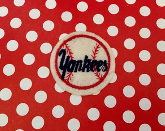 Vintage New York Yankees Applique Sew On Patch Vintage Baseball