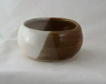 Light Brown pottery Shaving Bowl