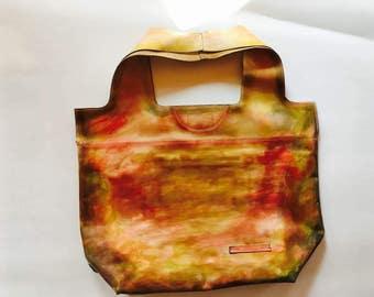 74street street bag, Camel Leather Tote Bag, Red Patina Tote Leather Bag, Tote Leather Bag, Shoulder Bag, Handmade Bag, Woman