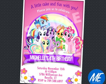 My Little Pony Invitation - Printable