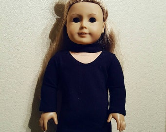 Black Choker Neck Dress for 18 inch dolls by The Glam Doll