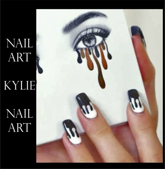Kylie jenner lip drip nail art stocking stuffer stickers like this item prinsesfo Image collections