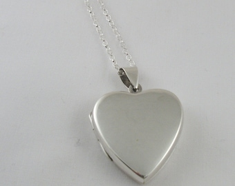 Sterling Silver Heart Locket, Sterling Silver Locket , Valentine Gift For Her, Mothers Day Gift,