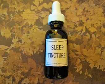 Herbal Sleep Tincture 1 oz. Insomnia, Trouble Sleeping, Anxiety, Nighttime Pain, Herbal Sleep Aid, Anxiety Relief, Insomnia Relief