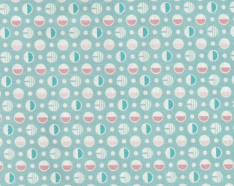 KIMBERLEY'S GARDEN, Fresh Water Designs, 30's Reproduction, Polka Dots in Teal,