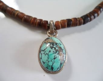 Turquoise Chip Pendant Necklace