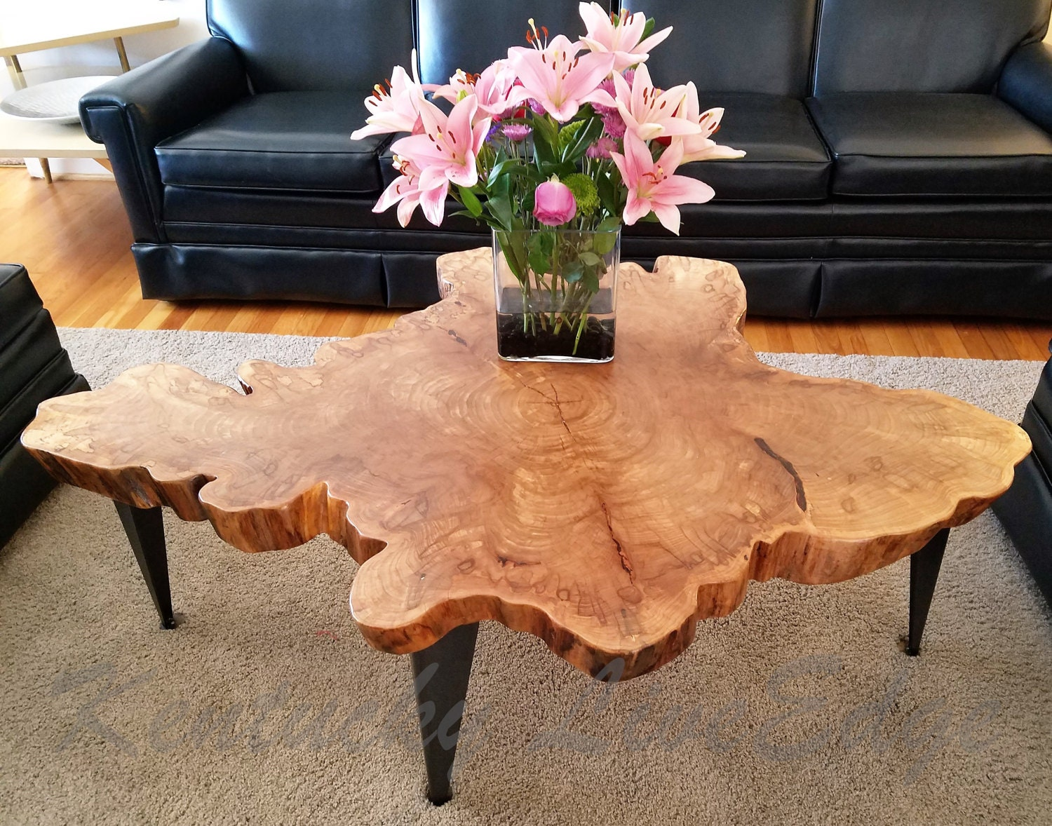 Large Tree Slice Coffee Table Live Edge Table Round Coffee