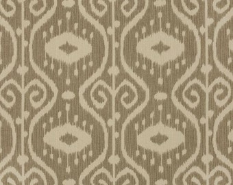 Magnolia Home Handmade Tablerunner 13W x 72L in Stone/Brown/Ivory Ikat Ready To Ship