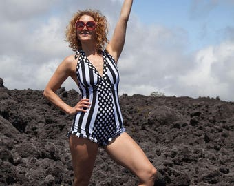Circus/Space/Stars/Stripes Romper/Adult Bodysuit/One-piece Swimsuit/Festival Outfit/Leotard Cosplay