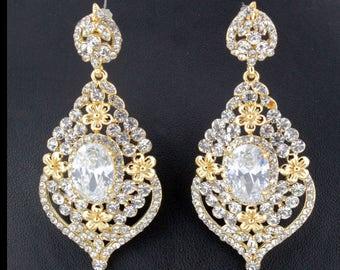 "Gold Vase Drop Gauges Plugs Dangles Tunnels Earrings 8mm 0g 10mm 00g 7/16"" 11mm 1/2"" 12mm"