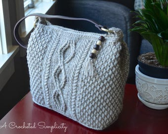 Crochet Pattern: Cateline Cabled Bag, Permission to Sell Finished Items