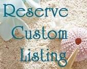 RESERVE CUSTOM LISTING Hair Comb, Beach Wedding Hair Accessory