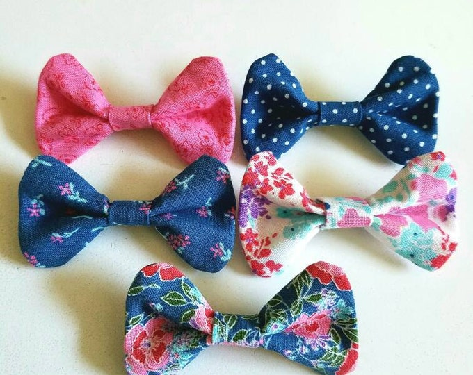 Two For Eight Floral Girlie Bow Bobby Pins