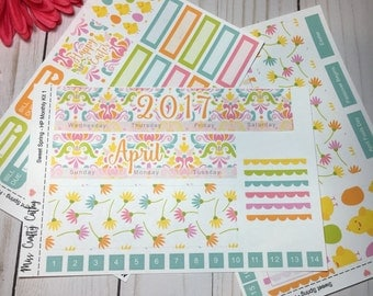 Sweet Spring -Happy Planner April Monthly Kit