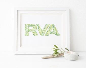 RVA Greenery Print