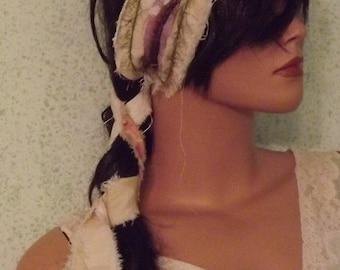 Boho Becky Up-cycled Wardrobe Hippie Hair Sash Gypsy Chic Summer  Ready to Ship