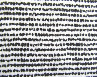 Vintage Cotton Black & White ABSTRACT STRIPE Curtain/Apparel/Quilting -Weight Fabric