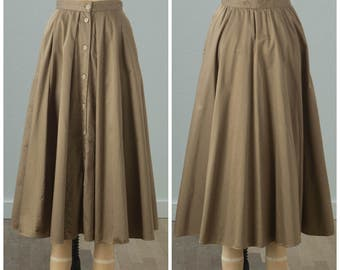 1980s Classic Tan Maxi Skirt | Mr Jax