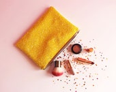 Lemon Yellow Glitter Clutch Bag Sparkly Yellow Clutch Colourful Bag Festival Accessories Yellow Glitter Evening Bag