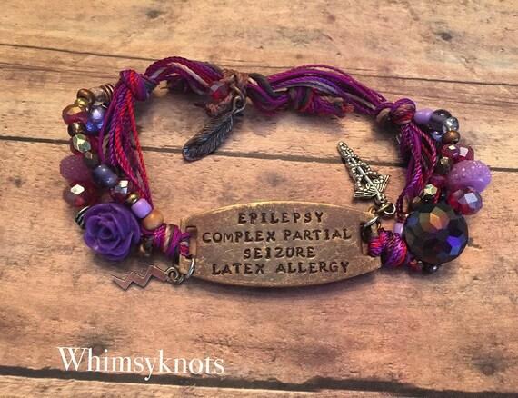 Medical Alert ID bracelet. Trendy Medical Bracelet-Personalized/ Hand-Stamped Jewelry