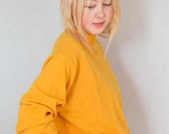 United Colors of Benneton Tangerine Mock Turtleneck Sweater