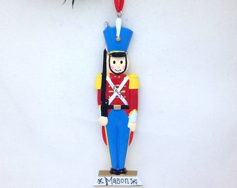 Toy Soldier Ornament / Personalized Christmas Ornament