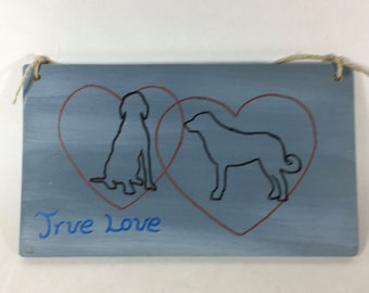 Love Of Dogs Plaque