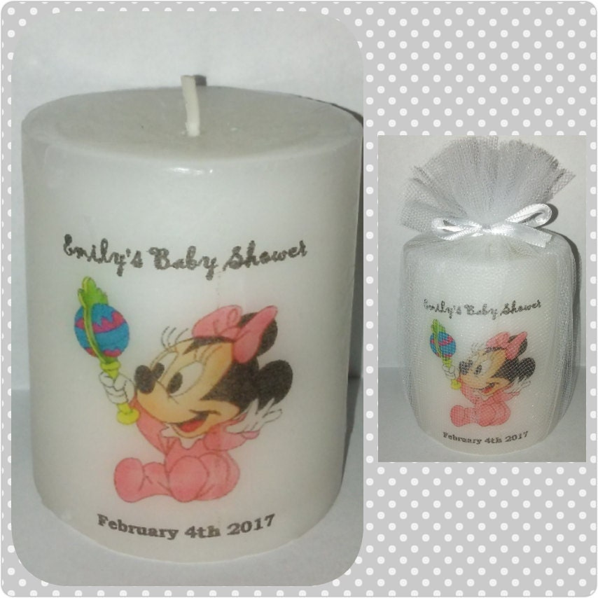 Minnie Mouse Zebra Print Baby Shower: Minnie Mouse Baby Shower Favors Decoration Zebra