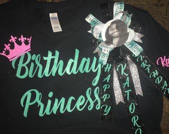 Birthday Princess Shirt Set