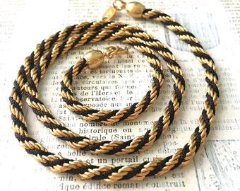 Vintage TRIFARI Rope Necklace - Vintage Satin Twist Jewelry Deco