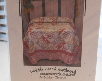 Faded Pinwheels quilt pattern