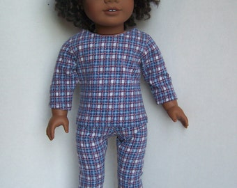 Flannel Look Plaid Leggings and Long Sleeved T-Shirt - fits 18 inch Dolls