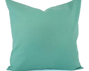 Solid Aqua Decorative Pillow Cover - Teal Pillow Cover - Linen Pillow Cover - Solid Turquoise Pillow - Custom Pillows - Teal Pillow Sham