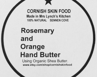Rosemary and Orange Hand Butter