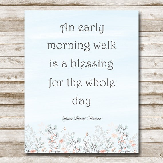 Early Morning Blessing Quotes: Sale Henry David Thoreau Quote Printable An Early Morning