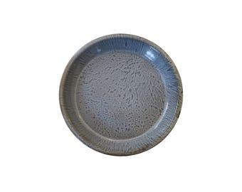 Vintage Large Gray Graniteware Enamel Pie Baking Pan