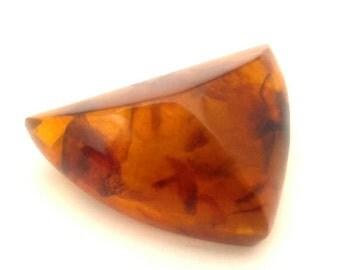 Amber Baltic Brooch Genuine Natural Vintage 10.52 Gr Cognac Excellent Color