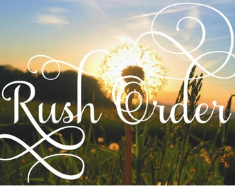 RUSH ORDER FEE-Contact Before Adding to Order